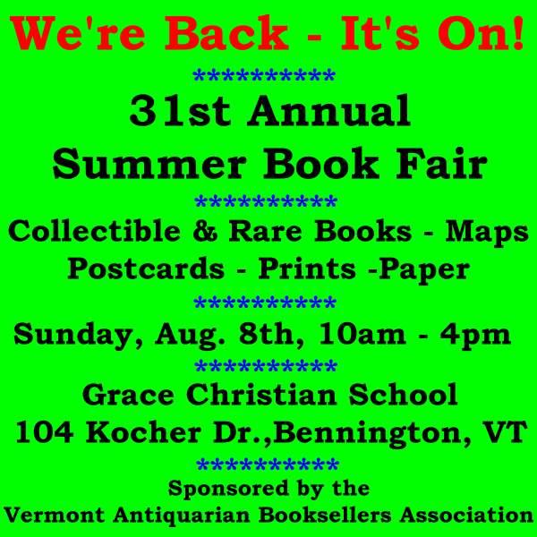 2021 Summer Book Fair Poster